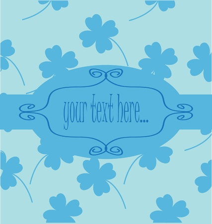 Four Leaf Clover background Stock Vector - 8828336