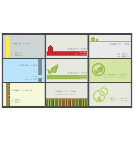 Collection  of vertical business card