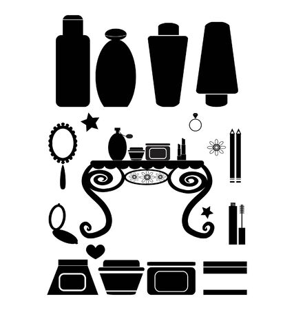 Cosmetics And Beauty Products Vector