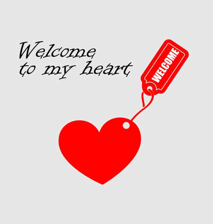 welcome to my heart Stock Vector - 8977493