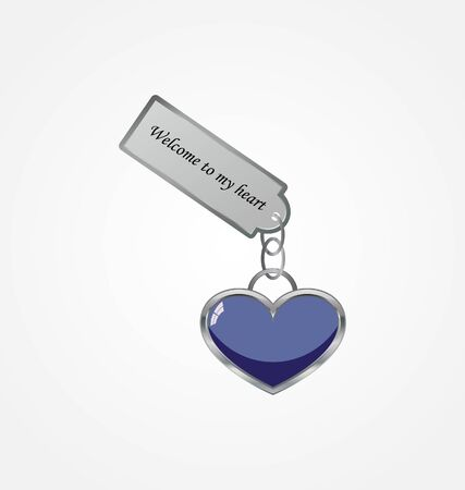 gain access: heart with tag  Illustration