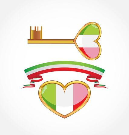 イタリアのシンボルのセット 写真素材 - 9238239