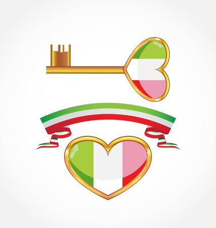 set of symbols of italy Illustration