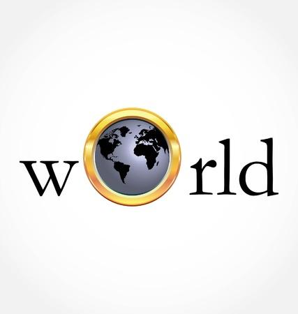 World globe Stock Illustratie