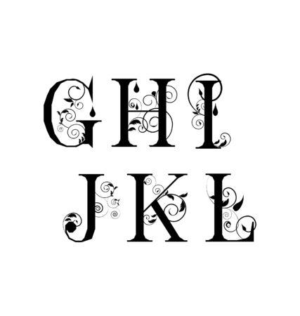 decorative letter: Vector Sketch  letters