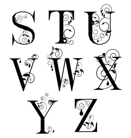 variations set: Vector Sketch  letters