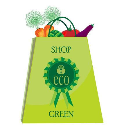 vegatables: Eco Shopping Bag with vegatables