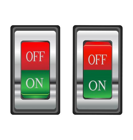 On-off red switch button 向量圖像