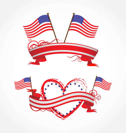 ribbons for July 4Th Stock Photo - 9659161