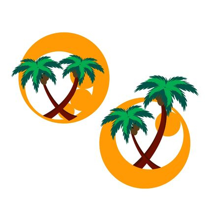 cocos: two icons with palm trees
