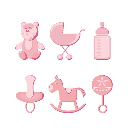 Vector illustration - baby icons set Stock Vector - 9931652