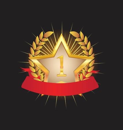 金の星  イラスト・ベクター素材
