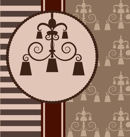 lamp shade: background  with  vintage design elemenet