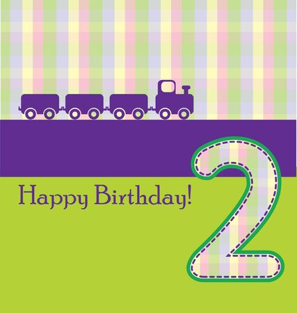 1 2 years: happy birthday card