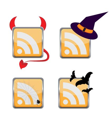 witch hat: Orange Colored RSS Icon