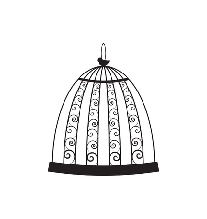 birdcage: Vintage bird cage Illustration