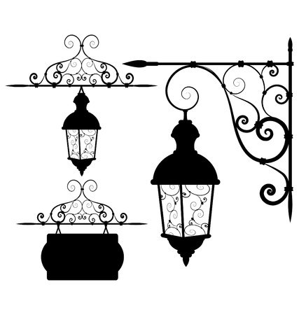 lamppost:  street lantern