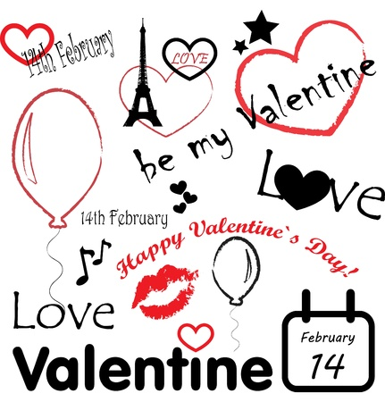 romantic: Valentines day  Illustration