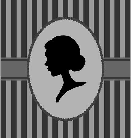 visage femme profil: Silhouette portrait de femme