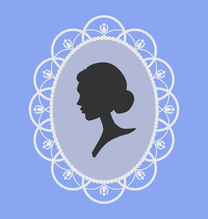 Woman portrait silhouette Stock Vector - 12827028