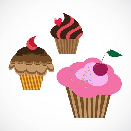 illustration of delicious cupcakes Stock Vector - 17565479