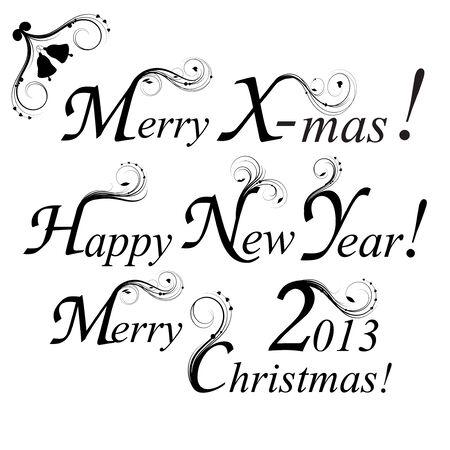 Merry Christmas, Happy New Year. Stock Vector - 17565531