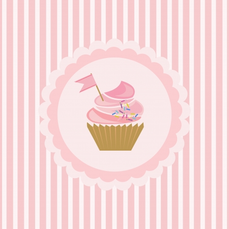 mather: background with cupcake