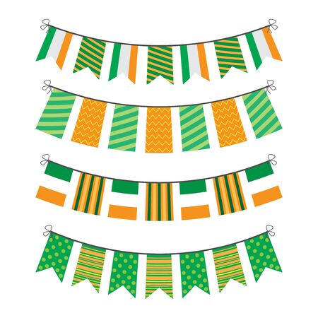 bunting of flags Illustration