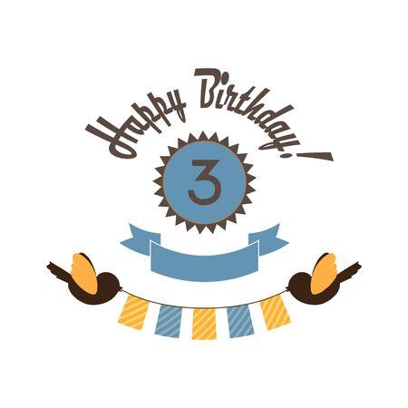 third wheel: Happy birthday card  Stock Photo