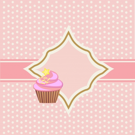mather: background with cupcake and decoration Stock Photo