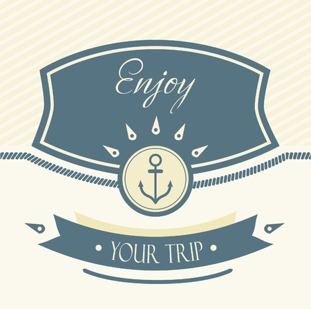 anchorman: Vintage Design Template With Anchor Illustration