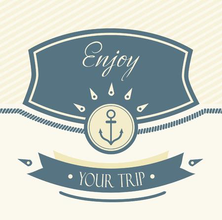 mariner: Vintage Design Template With Anchor Illustration