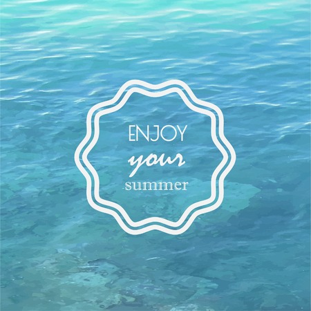 Water background with label
