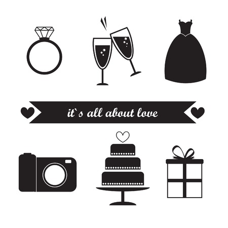 Wedding elements Icons