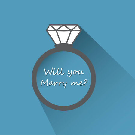 marry: Will you marry me ring sign icon.