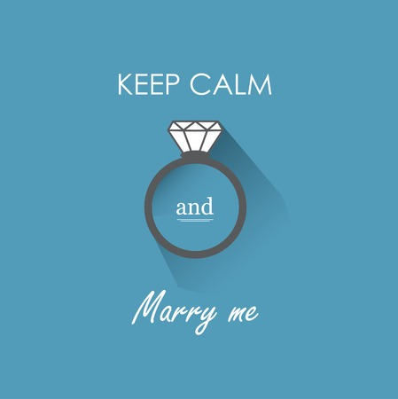 marry me: Keep calm and marry me ring icon Illustration