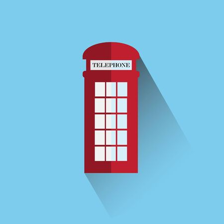 red telephone box: Red britain telephone box