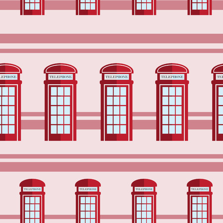 phonebox: Red telephone box  seamless pattern