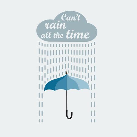 rain umbrella: Umbrella and rain Illustration