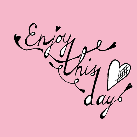 arty: Enjoy this day colorful typographical poster template