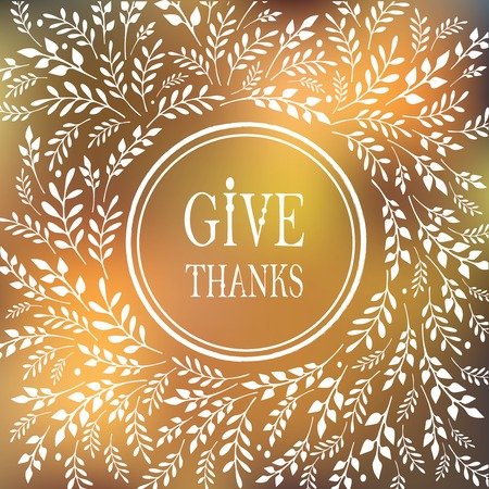 give: Card for Thanksgiving Day  with floral design