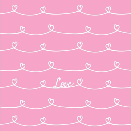 hand heart: Seamless background with hand drawn  heart pattern brush.