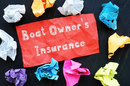 Boat Owner's Insurance phrase on the sheet.