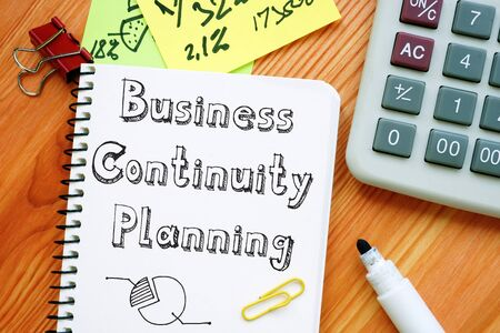 The inscription Business Continuity Planning for your blog.