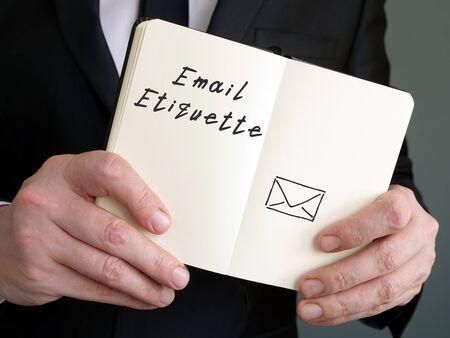 Email Etiquette inscription on the page. Standard-Bild