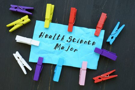 Business concept about Health Science Major with phrase on the piece of paper. Stock Photo
