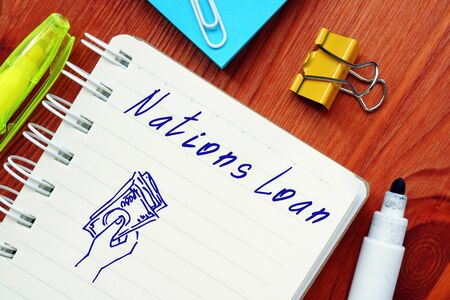 Business concept about Loan Nation with phrase on the sheet.