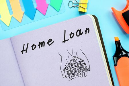 Business concept about Loan Home with phrase on the page.