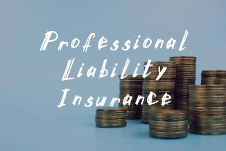 Professional Liability Insurance  phrase on the piece of paper. Фото со стока