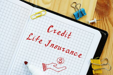 Credit Life Insurance  sign on the sheet.